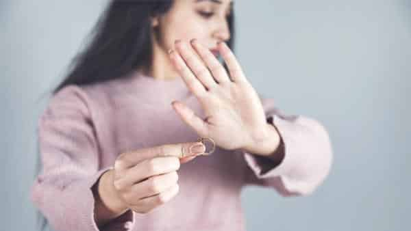 Lady Feeling Disappointed With a Loose Ring
