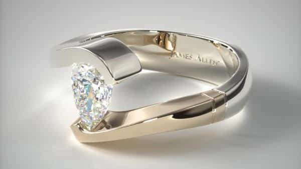 Mixed Metal Setting (White and Yellow Gold)