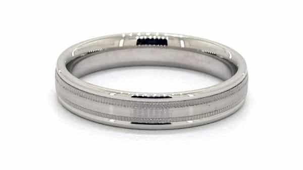 Milgrain Ring Design: Near the Center of the Band