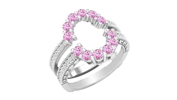 Dazzlingrock Collection Round Colored Gemstone Ring Guards in 925 Sterling Silver