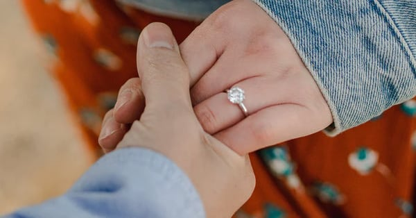 Ring Settings Education: A Bride Wearing an Engagement Ring