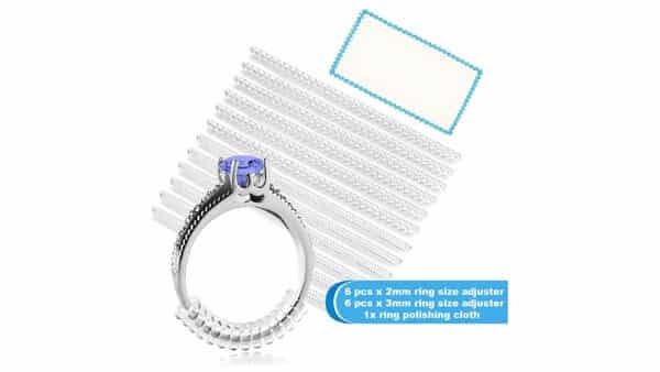 5 STARS UNITED Store Silicone Ring Size Adjuster (12 Packs, 2 Sizes)