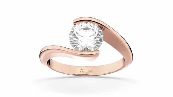 Rose Gold Swirl Style Tension Ring (Allurez)