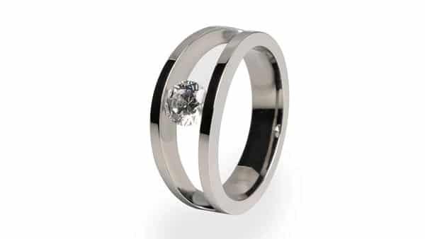 Split Shank Tension Style Ring
