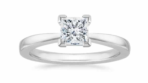 Princess Cut Diamond on a V-Prong Setting