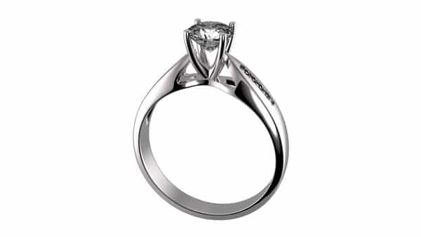 Cathedral Style Ring Structure: Sweeping Arches