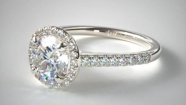 Halo Style Pavé Engagement Ring (James Allen)