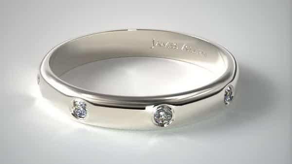 Multi-Stone Flush Style Ring