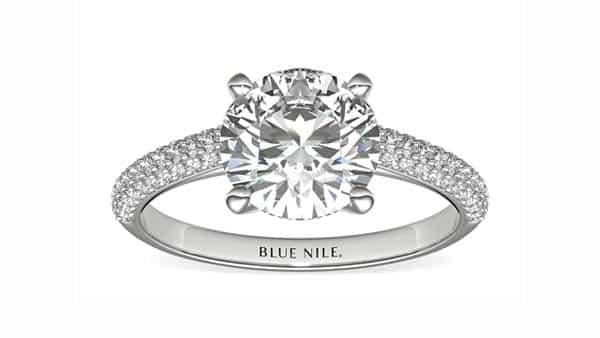 Multiple Pavé Setting Diamond Engagement Ring