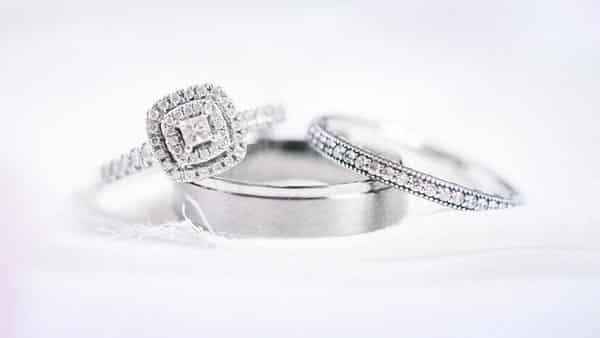 Consider Potential Wedding Band Style to Pair With Pavé Engagement Ring