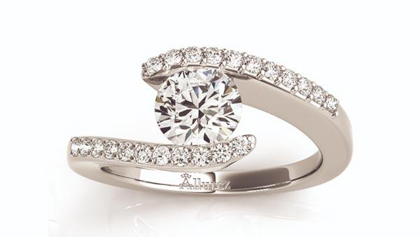 Tension-Pavé Combined Diamond Ring