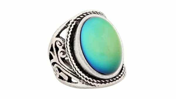 MOJO Jewelry Sterling Silver Plated Color Changing Mood Ring