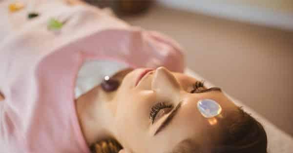 Woman at a Crystal Healing Class
