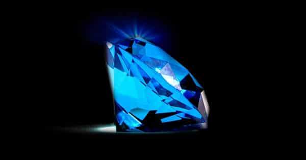 Illustration of Diamond Fluorescence Effect