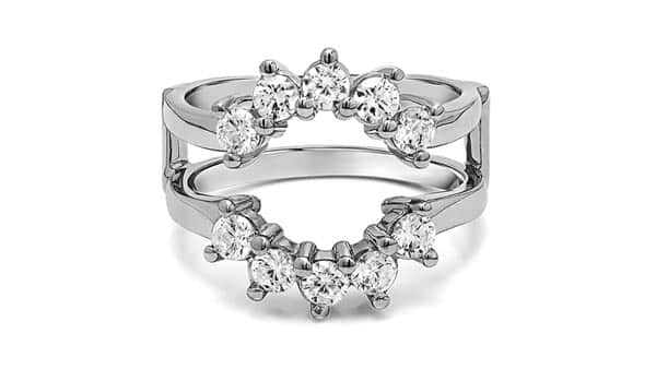 Halo Style Ring Guard Enhancer With Cubic Zirconia (1 CT.)