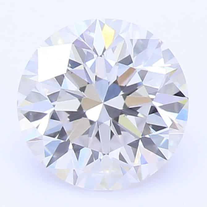 Lab-Created 1 Carat Ideal-Cut G-Color VS2-Clarity Round Diamond
