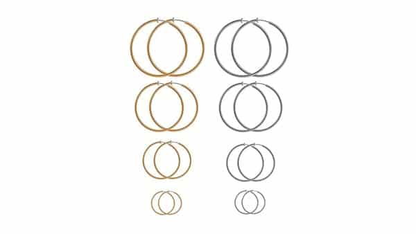 Aganippe Sliding Spring Hoop Earrings for Women With Non-Pierced Ears