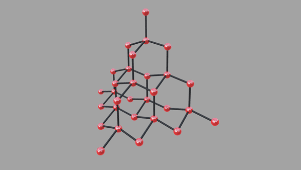 Structure of Cultured/Mined Diamond