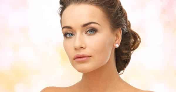 Woman Wearing Diamond Earrings