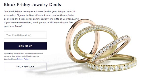 Blue Nile Black Friday Jewelry Deals and Discounts