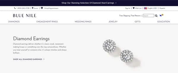 Blue Nile Diamond Earrings Cover Image