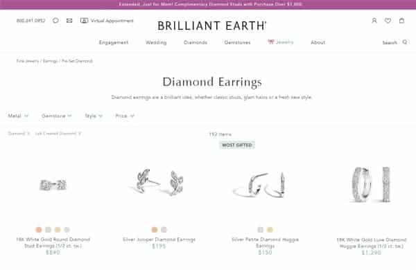 Briliant Earth Diamond Earrings Cover (Pre-Set Earrings)