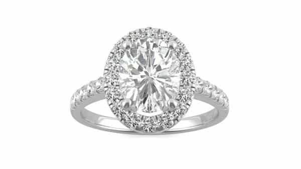 Forever One Moissanite Engagement Ring (Charles & Colvard)