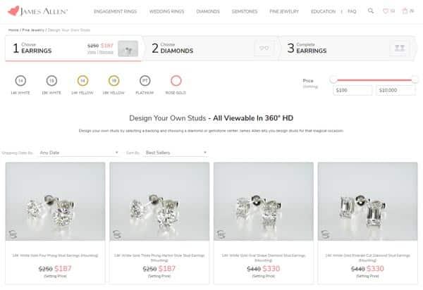 Buying Diamond Earrings on James Allen