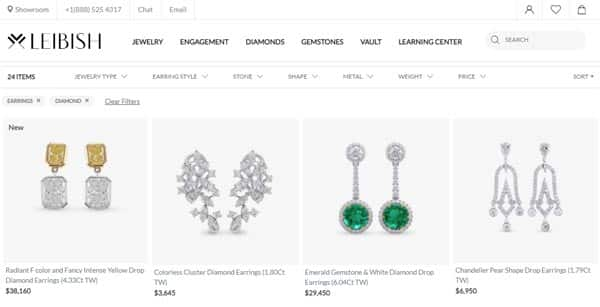 Buying Natural Fancy Colored Diamond Earrings on Leibish