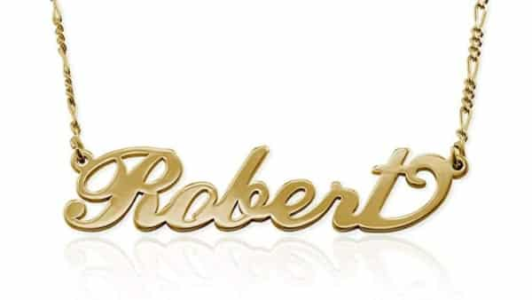 MyNameNecklace Gold Vermeil Personalized Name Necklace (High-Quality Gold)