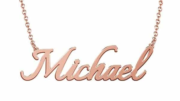 Soufeel 14K Rose Gold-Plated Custom-Made Nameplate (30+ Styles)