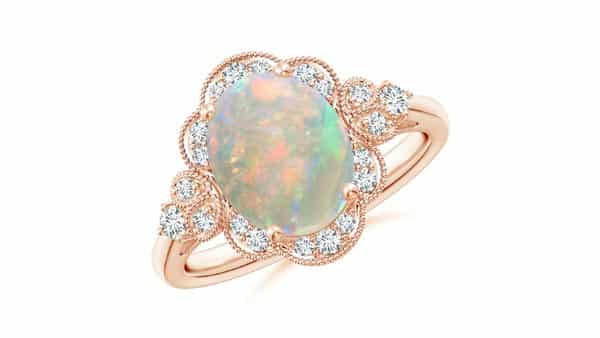 Victorian Style Opal Engagement Ring