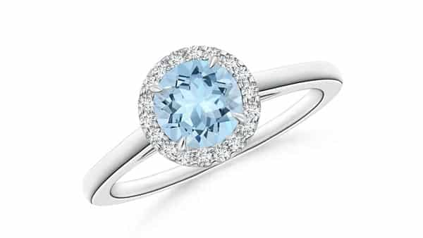 Cathedral Style Aquamarine Ring