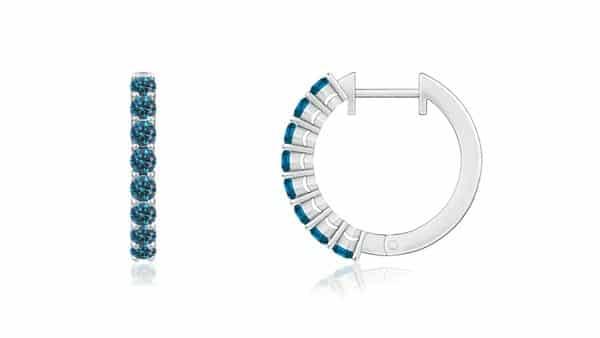 Blue Diamond Hoops