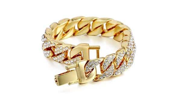 Gold Chain Hip-Hop Bracelet