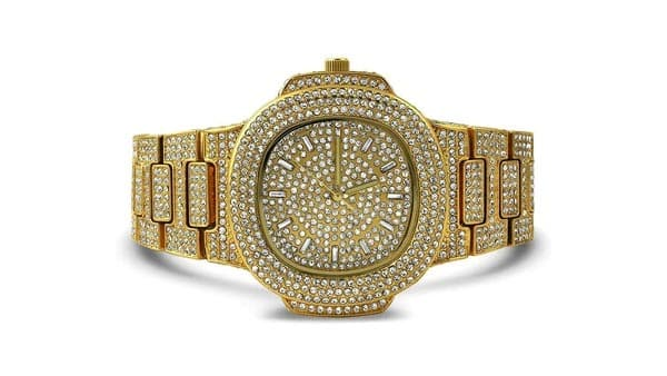 Iced-Out Big-Faced Hip-Hop Watch