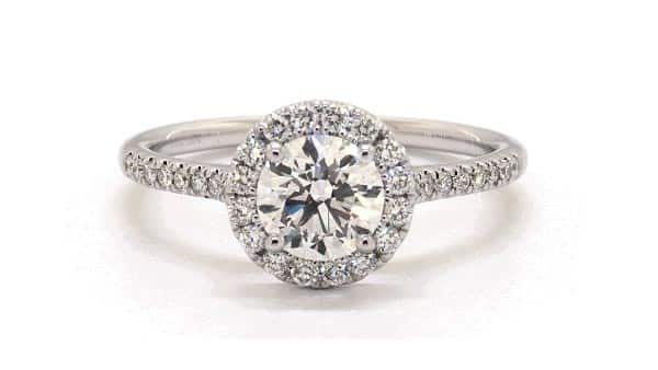Natural Diamond Engagement Ring (Halo Style)