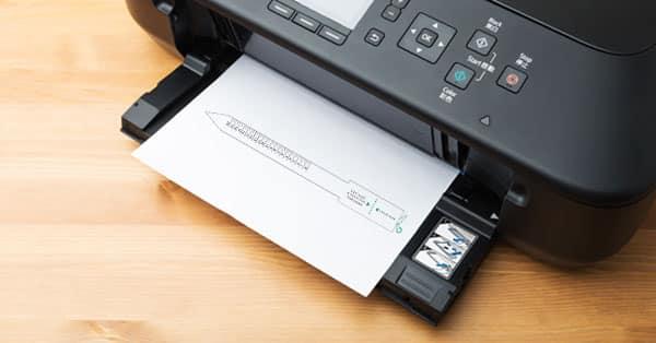 Printer Printing a Printable Ring Size Chart