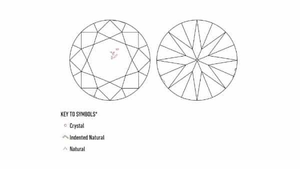 GIA Diamond Plot of a VS2 Diamond