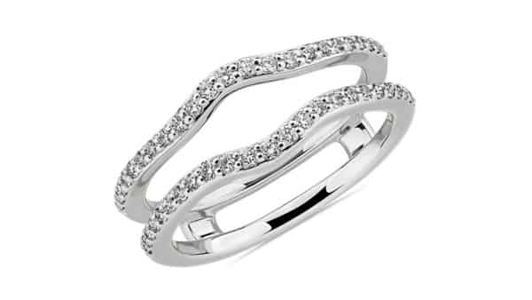 Diamond Solitaire Ring Enhancer With Connected Guards (Free, Quick Shipping)
