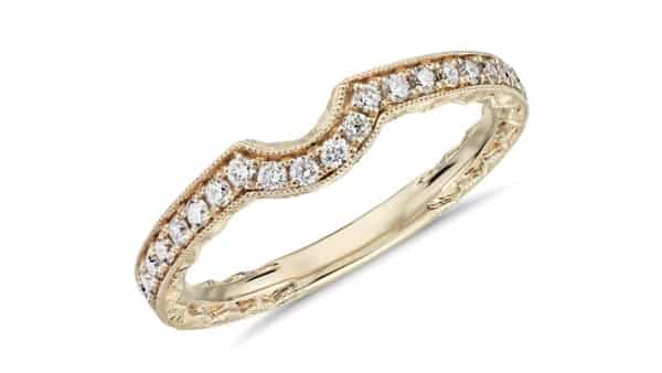 Milgrain Style Ring Guard (Minimum Number of Diamonds: 24)