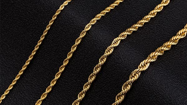 Monily 18K Gold Plated Rope Chain (Amazon's Choice Rope Chain With Over 12,000 Reviews)