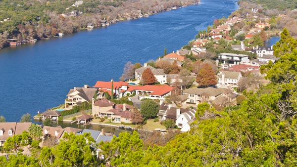 Aerial View of the Mount Bonnell in Austin