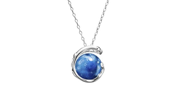Blue Kyanite Sterling Silver Pendant Necklace
