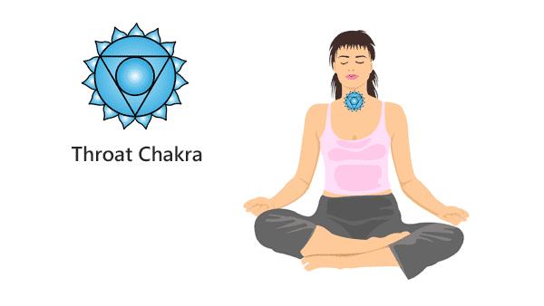 Woman Healing Her Throat Chakra