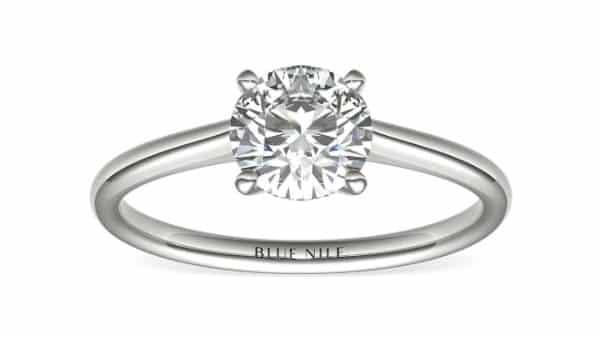 Classic 1.00-Carat Solitaire Round Diamond Ring in Platinum