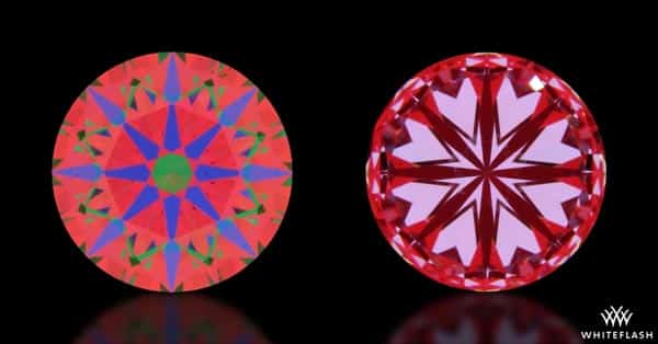 Optical Images of Hearts and Arrows Diamonds