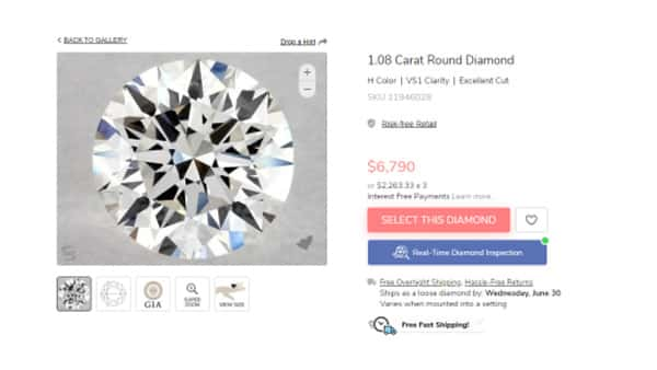 Excellent Cut Diamond SKU 11946028