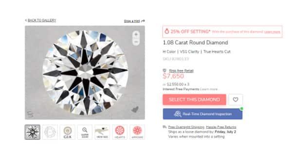 True Hearts Diamond SKU 8280133