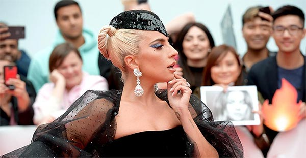 Lady Gaga's Garden of Kalahari Diamond Earrings at TIFF